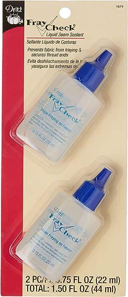 Dritz 1674 Fray Check Liquid Seam Sealant 0 75 Fluid Ounce 2 Count