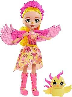 Enchantimals Royals mini-poupée Falon Phénix, figurine animale Sunrise et accessoires, jouet pour enfant, GYJ04