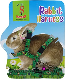 JAINSONS PET PRODUCTS® Adjustable Harness with Small Bell for Rabbit; Bunny; Cat; Kitten (Color May Vary)