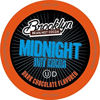 Brooklyn Beans Midnight Dark Chocolate Hot Cocoa Pods, Compatible with 2.0 K-Cup Brewers, 40 Count