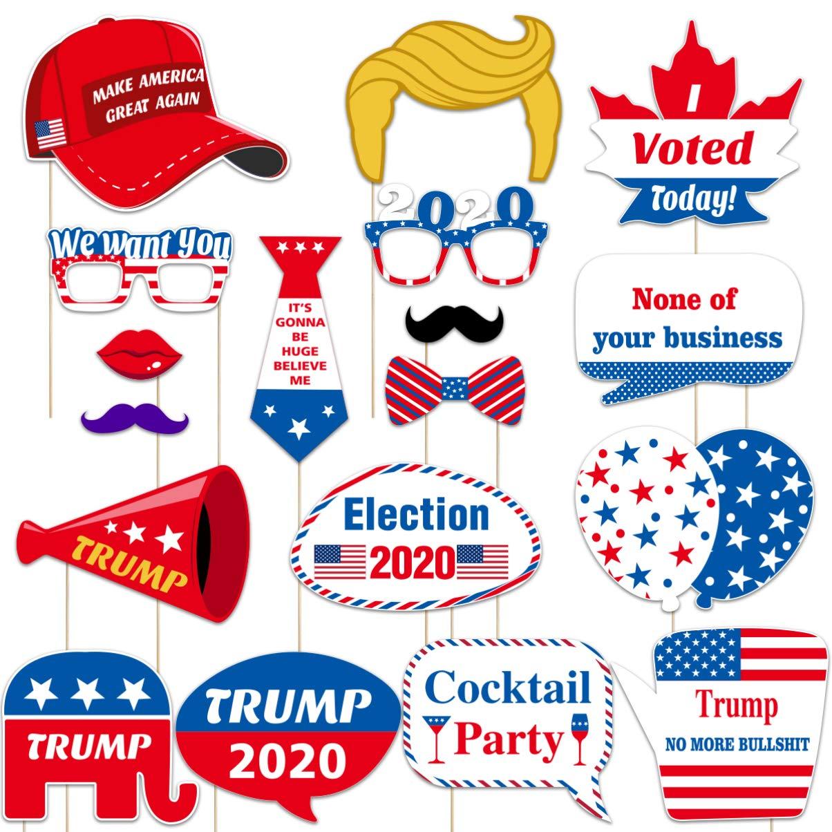 Amosfun 2020 Trump Photo Booth Props USA Presidente Elección Party ...