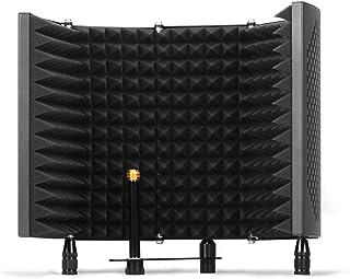 Escudo de aislamiento de micrófono TKOAIY, filtro pop de 5 paneles, espuma absorbente de alta densidad que se utiliza para...
