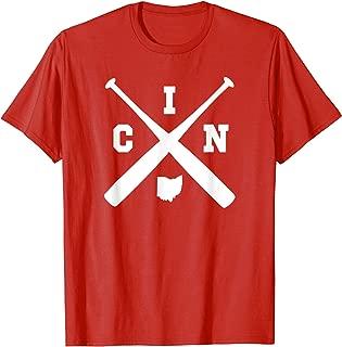 Vintage Cincinnati Baseball Bats Ohio State Outline Shirt