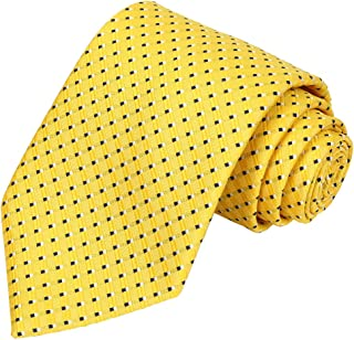 Mens Extra Long Tie Checkered Plaid Necktie + Gift Box (63'' XL)
