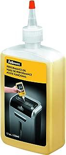 Fellowes 35250 Powershred Performance Oil, 12 oz. Bottle w/Extension Nozzle