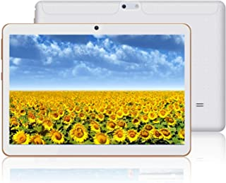 HOPESUNIN Tableta Android con Pantalla HD IPS de 10.0 Pulgadas Tableta Android 9.0 4GB + 64GB Bluetooth WLAN GPS cámara Dual (Blanco)