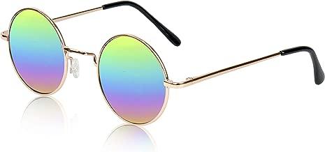 Sunny Pro Retro Round Sunglasses Small Colored Lens Hippie John Lennon Glasses
