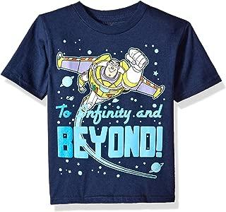 Disney Boys OYSD300-02T Toy Story Buzz Lightyear Infinity & Beyond! Short Sleeve Tee Short Sleeve T-Shirt - Blue