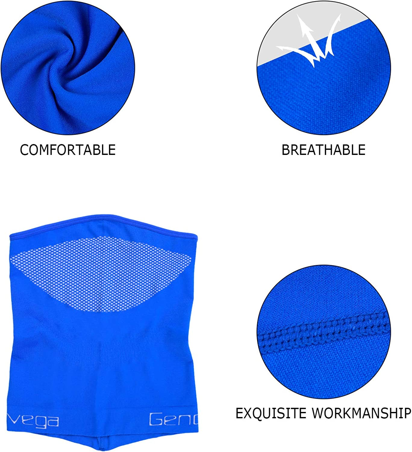Genovega Unisex Neck Gaiter Face Cover for Outdoor Cycling Hiking Fishing Sport