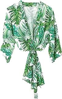 Palm Leaf Robe Bridesmaid Robe Tropical Robe Beach Wedding Beach Bride Robe