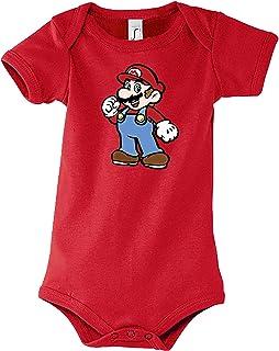 TRVPPY Baby Jungen & Mädchen Kurzarm Body Strampler Super Mario 2