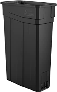 Suncast Commercial 23-Gallon Narrow Trash Can without Handles - Durable Garbage Can, Black