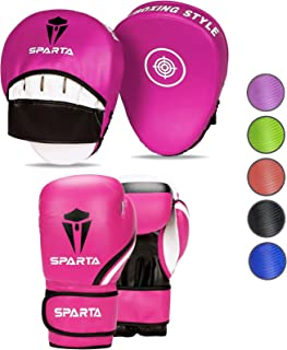Boxing gloves and pads set Focus Punch Mitts MMA Training
