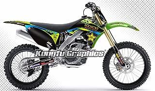 Kungfu Graphics Custom Decal Kit for Kawasaki KX250F KXF250 2009 2010 2011 2012, Black, style 002