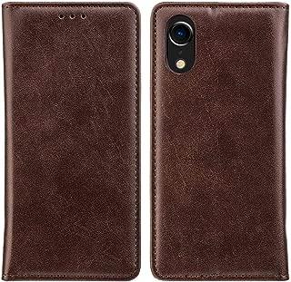 Classic Design Vegan Leather Gentleman Wallet Folio Flip Phone Case Card Slots for iPhone XR (Brown)