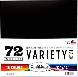 CraftMore 12x12 Inch Variety Pack 72 Sheets