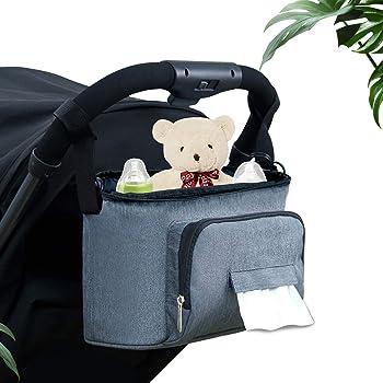 Azul Feoya Bolso Organizador Silla de Paseo 900D Oxford Inpermeable Bolsa de Cochecito Carrito de Beb/é Colgantes con Velcro