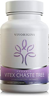 Organic Vitex Chasteberry | 400mg per Cap with Standardized Extract | Natural PMS Relief, Supports Regulate Cycles & Hormone Balance, Promotes Skin Care* 120 caps