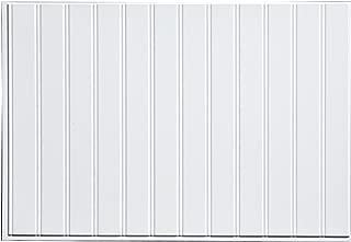 Fasade Easy Installation Bead Board Gloss White Decorative Vinyl Backsplash Panel (18