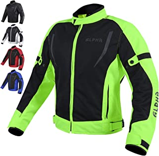 HI VIS MESH MOTORCYCLE JACKET FOR MENS RIDING BIKERS...