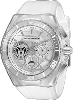 Men's Cruise California Stainless Steel Quartz Watch with Silicone Strap