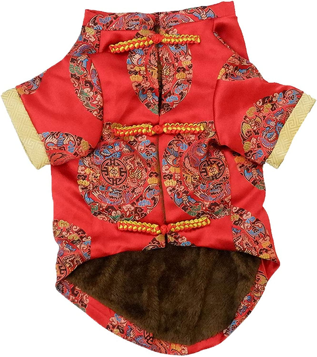 NYJ Christmas Pet Clothes, Gift Cat Dog Tang Costume Set Costume Embroidery Jacket Jumpsuit Puppy Clothes (Size   Xl)