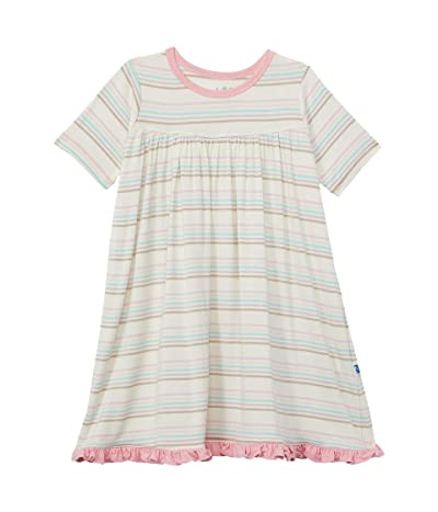 Kickee Pants Kids Print Classic Short Sleeve Swing Dress (Toddler)