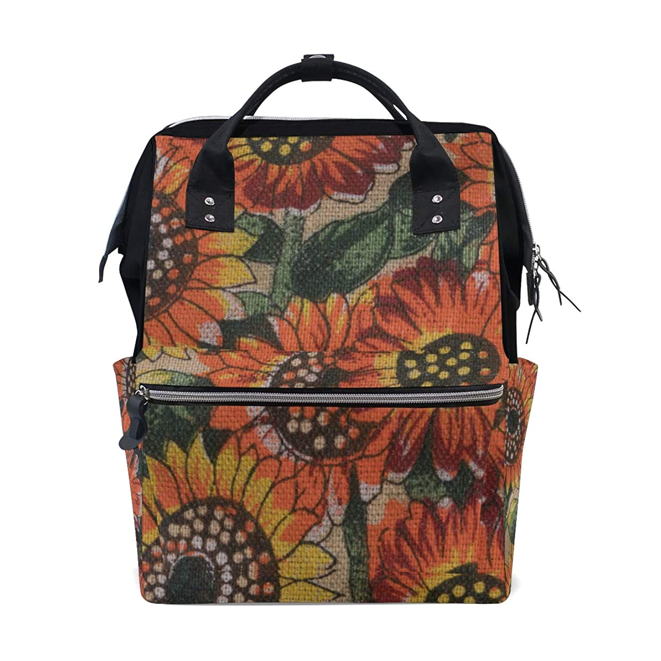 Oil Painting Sunflowers Floral School Backpack Large Capacity Mummy Bags Laptop Handbag Casual Travel Rucksack Satchel For Women Men Adult Teen Children