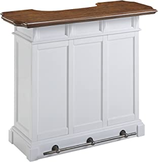 Americana White and Oak Bar by Home Styles