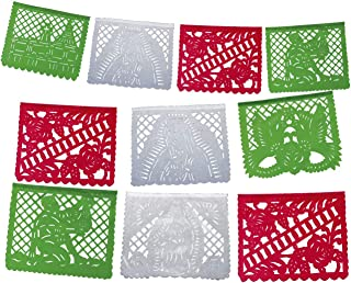 Fiesta Brands Dia de la Virgen de Guadalupe Our Lady of Guadalupe Papel picado Banner 12