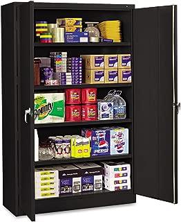 Tennsco J1878SUBK Assembled Jumbo Steel Storage Cabinet, 48w x 18d x 78h, Black