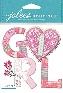 Jolee's Boutique Dimensional Stickers, Baby Girl Yarn Word