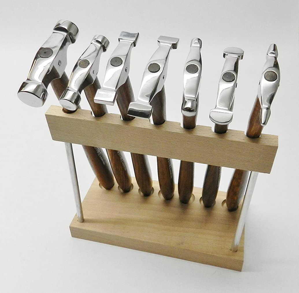7 MINI TRUSTRIKE HAMMERS WITH STAND DESIGNING JEWELRY METALSMITH FORMING SHAPING