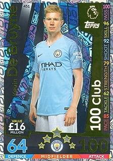 MATCH ATTAX 2018/19 Kevin DE BRUYNE 100 Club Card - Man City #451
