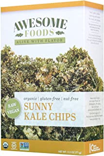Awesome Foods, Organic, Gluten-Free, Plant-based, Non-GMO, Sunny Kale Chips, 6 Pack