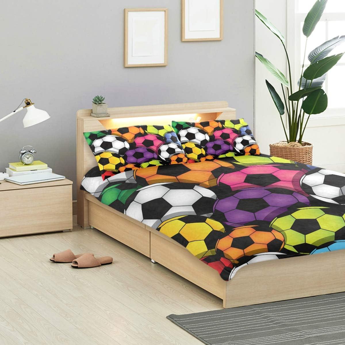 Bennifiry Parure de lit 3 pièces avec Housse de Couette et 2 taies d'oreiller en Coton lavé Gris, Multi#002, Taille Unique Multi#002