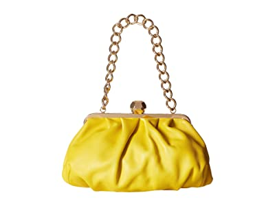 Frances Valentine Zelda Ruched Clutch (Yellow) Clutch Handbags