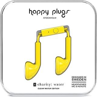 happy plugs(ハッピープラグス) EARBUD インナーイヤー型イヤホン スウェーデンブランド 女性向け ギフトに最適 音符マークケース リモコン・マイク付 通話可能 iOS/Android対応 イエロー【国内正規品】