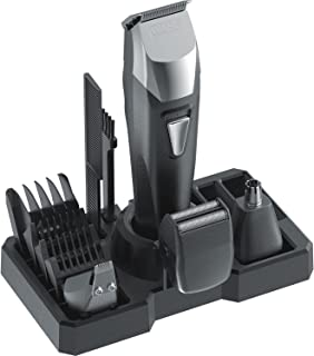 Wahl Groomsman Pro All-in-One Men's Grooming Kit Rechargeable Beard Trimmers and Hair Clippers, Includes Guide Combs, Precision Detailer, Mini-Shaver Head, and Nose and Ear Hair Trimmer, 9860-700
