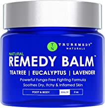 Remedy Tea Tree Oil Balm - Cream for Athletes Foot, Jock Itch, Ringworm, Eczema, Nail Issues, Rash, Skin Irritation - Oint...