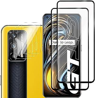 GMUJIAO [5 Pack] Kompatibel med Realme GT 5G för Skärmskydd i Härdat Glas & Kameralinsskyddande Film,Anti-Splittring,HD Cl...