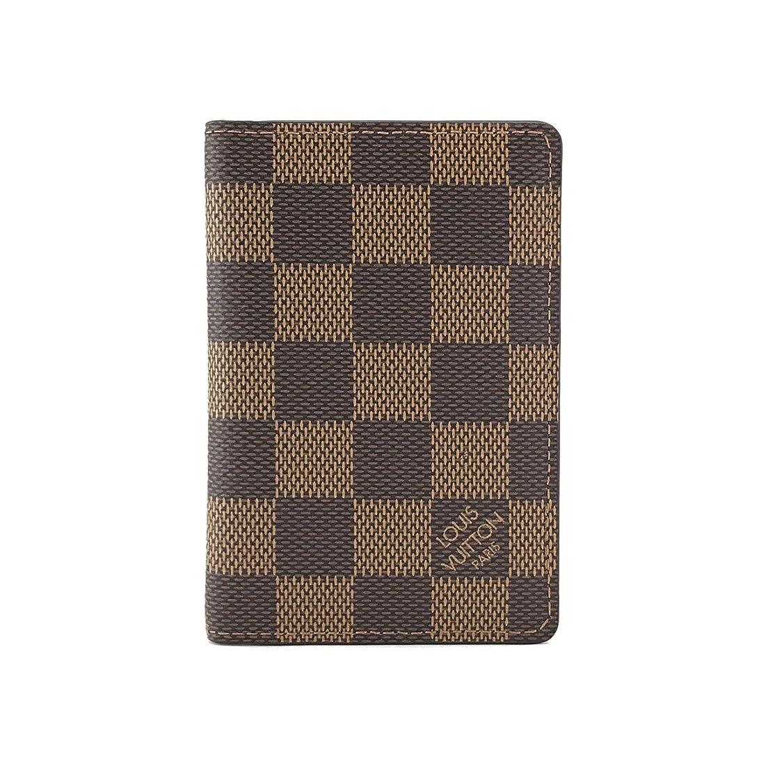 ブレーク証明書離れてルイヴィトン カードケース LOUIS VUITTON パスケース ポケット オーガナイザー ダミエ エベヌ N63145