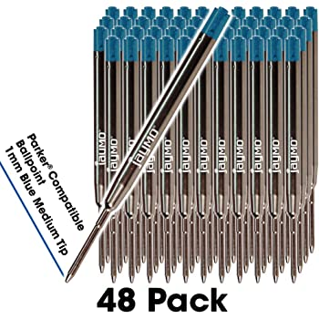 Ricariche per penna a sfera compatibili con Cross/® nero # 8513 Inchiostro tedesco liscio e puntale medio 1mm Jaymo 6