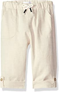 Mud Pie Baby Boys Faux Linen Drawstring Waist Pants