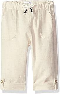 Baby Boys Faux Linen Drawstring Waist Pants