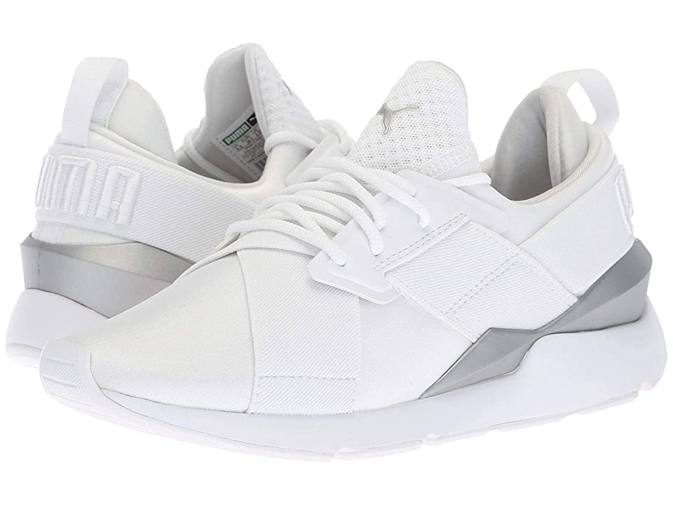 Puma Kids Muse (Big Kid) (Puma White/Puma White) Girl