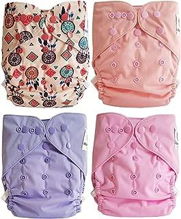 Pastel Lot de 6 couches lavables TE2 /à doubles goussets Maman et bb Nature
