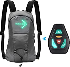 Lixada Cycling Backpack 18L LED Turn Signal Light Reflective Bag Pack for Outdoor Safety Night Bicycle Bike Riding Running...