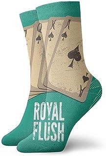 hgdfhfgd, Vintage Retro Casino Poster Juego de Cartas Novedad Crew Calcetines Athletic Socks Medias 30CM