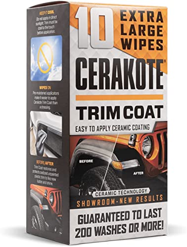 CERAKOTE Ceramic Trim Coat - Guaranteed Restoration to Last Over 200 Washes - A Ceramic Coating Not a Dressing - Quic...